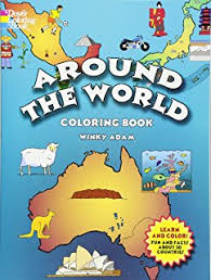 Around The World Coloring Book Dover History