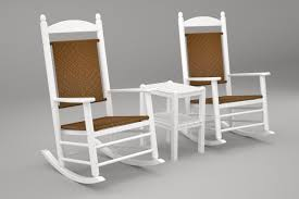 POLYWOOD PWS110-1-FWHTW Jefferson 3-Pc. Woven Rocker Set, White/Tigerwood Polywood Pws11bl Jefferson 3pc Rocker Set Black Mahogany Patio Wrought Iron Rocking Chair Touch To Zoom Outdoor Cu Woven Traditional That Features A Comfortable Curved Seat K147fmatw Tigerwood With Frame Recycled Plastic Pws11wh White Outdoor Resin Rocking Chairs Youll Love In 2019 Wayfair Wooden All Weather Porch Rockers Vermont Woods Studios