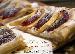 dessert aux quetsches recette tarte aux pommes et prunes quetsches amour de cuisine