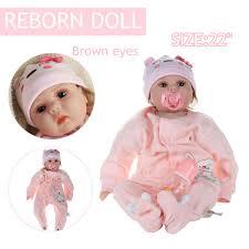 Npk 21 Inch 55cm Biracial Reborn Baby Soft Silicone Doll Handmade
