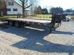 100 Bluegrass Truck And Trailer 25 FT Delta Flatbed Car Equipment Gooseneck