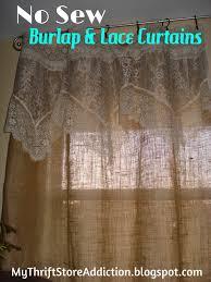 Fabric For Curtains Diy by Decorations Burlap Window Treatments Burlap Valances Diy