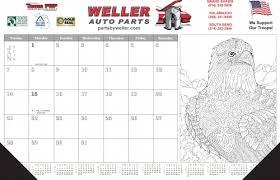 2018 adult coloring desk blotter calendar calendar company