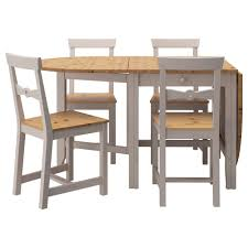 gamleby table and 4 chairs light antique stain grey 67 cm ikea