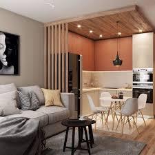 küche und wohnzimmer in einem raum 10 elegante