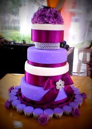Wedding Cake Decorated With Lavender Rustic