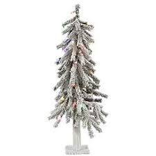 75 Flocked Slim Christmas Tree by Vickerman Trees Slim Sears