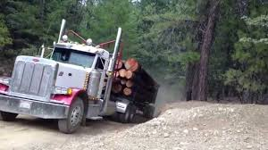 100 Log Trucks Two Log Trucks Coming Over A Hill YouTube