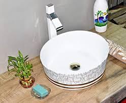 inart keramik waschbecken arbeitsplatte waschbecken
