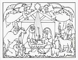 Download Coloring Pages Nativity Story Printable Scene Free