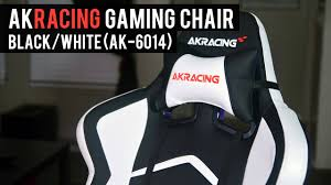 Akracing Gaming Chair Blackorange by Akracing Player Ak 6014 Gaming Chair Black White Youtube