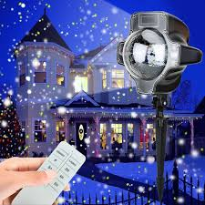 Snowfall LED Lights Christmas Waterproof Rotating Fairy Snowflake