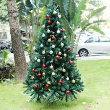 Balsam Christmas Trees Uk by 6ft 180cm Green Artificial Christmas Xmas Tree With Sturdy Metal