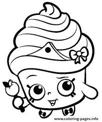 Print Shopkins For Kids Coloring Pages Free Printable