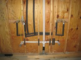 Ronbow Sinks And Vanities by Bathroom Shower Plumbing Here Is The Plumbing For The Double Sinks