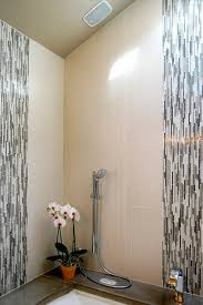 drywall ceiling tile bathroom contemporary with tile shower sloped