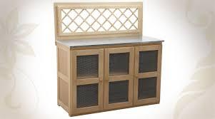 meubles d appoint cuisine buffet d appoint en épicéa pour cuisine extérieure avec 3 portes
