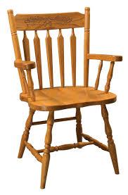 Acorn Colonial Arrow Back Arm Chair - Amish Furniture ...