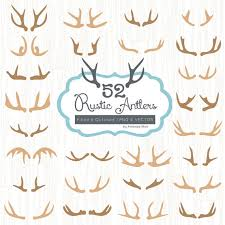 Premium Rustic Antlers Clipart Vectors For Commercial Design Or Crafts