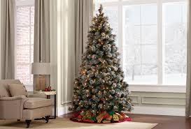 Slim Snow Flocked Christmas Tree by Pre Lite Christmas Tree Christmas Lights Decoration