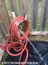 Hose Bib Timer Home Depot by Two Men And A Little Farm Burying Hose For Irrigation To Raised Beds
