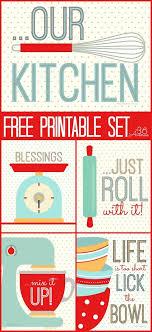 Free Printables Kitchen Set