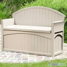 Suncast Resin Deck Box 50 Gallon by Suncast Patio Storage Bench U2013 Amarillobrewing Co