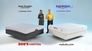 Bobs Furniture Sofa Bed Mattress by Bob O Pedic Queen Mattress Set Bob U0027s Discount Furniture Youtube