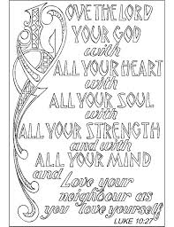 Bible Coloring Pages For Kids With Verses Scripture