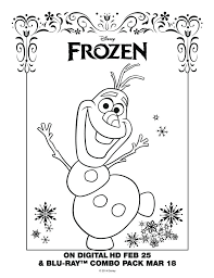 Full Image For Free Printable Coloring Pages Frozen Olaf Sheet