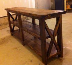 RUSTIC X CONSOLE Do It Yourself Home Projects From Ana White