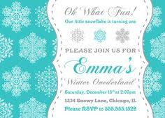 Winter Birthday Invitations And Get Inspired To Create Your Invitation With