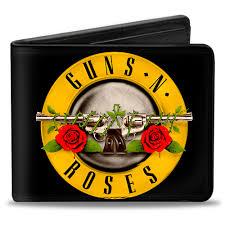 guns n roses bullet custom bi fold wallet