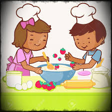 Children Cooking In The Kitchen Stock Vector Royalty Free Cliparts Vectors