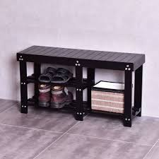 Baxton Shoe Cabinet Canada by Black Entryway Shoe Bench Solid Wood Storage Bench Shoe Bench