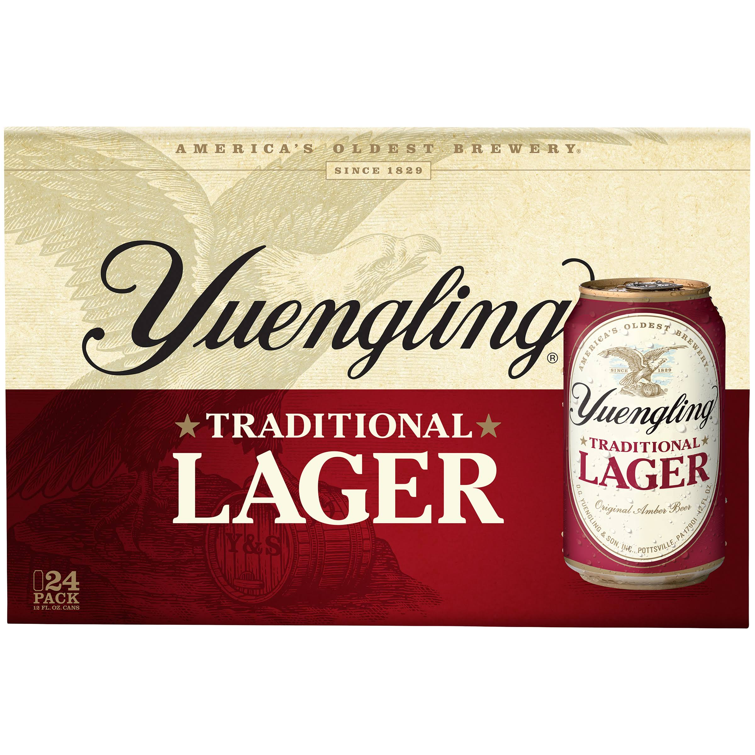 Yuengling Traditional Original Amber Lager - 24 Cans