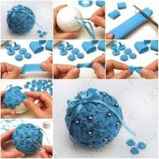 How To Make Crepe Paper Flower Ball Step By DIY Tutorial Instructions Christmas DecorationsChristmas IdeasChristmas