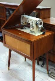 Vintage Kenmore Sewing Machine In Cabinet by Mid Century Modern Sewing Machine Table Mid Century Goodness