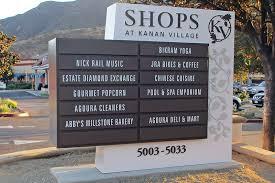 Shops at Kanan Village Shopping Mall Directory Monument Sign