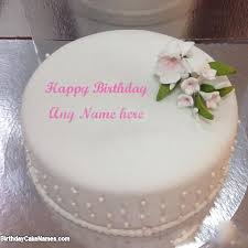 Special Vanilla Cake For Husband Birthday Wish With Name with Name