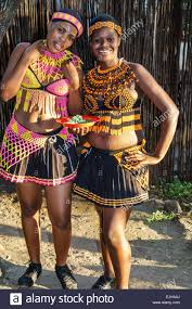 Johannesburg South Africa African Lesedi Lodge Cultural Village Zulu Xhosa Pedi Basotho Ndebele Tribes Black Woman Native Regalia Traditiona