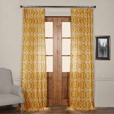 Crushed Voile Curtains Grommet by Lemon Yellow Sheer Panel