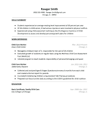Daycare Worker Resume Sample For Examples Day Care Child Provider Duties