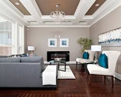 This Is An Example Of A Modern Living Room In Vancouver With Grey Walls