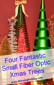 Small Fiber Optic Christmas Tree With Ornaments by Glowing Holiday Decorations Part 4