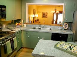 Light Sage Green Kitchen Cabinets by Sage Green Vintage Kitchen Cabinets With Wooden Countertop Also