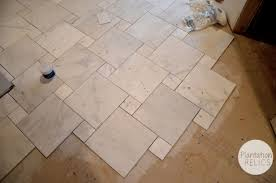 Carrara Marble Master Bath Flip House Update Tile Floor Going In Micro Apartment Design