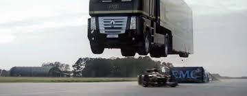 Semi-Truck Jump Over A Formula 1 Car - Epic World Record