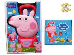 peppa pig play set with carry set
