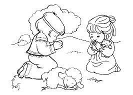 Free Printable Religious Coloring Pages Girl Praying